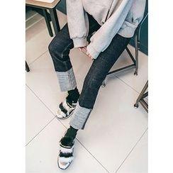 Chlo.D.Manon - Cuff-Hem Straight-Cut Jeans
