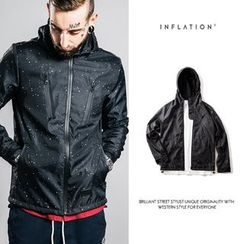 Newin - Splattered Hooded Jacket