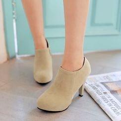 Pastel Pairs - Zip High-heel Pumps