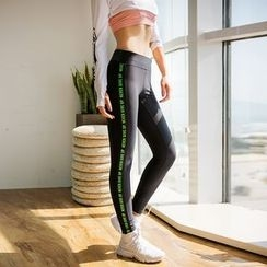 MANANA - Lettering Yoga Pants