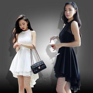 Sherbo - Sleeveless Paneled Layered Dress