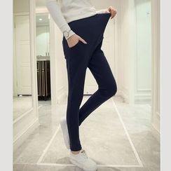 Soswift - 孕妇纯色连动裤