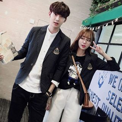 Evolu Fashion - Striped Couple Matching Blazer