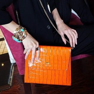 Miss Sweety - Croc-Grain Clutch