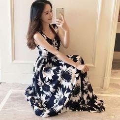 OTTI - Floral Print Strap Dress