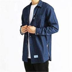 THE COVER - Dual-Pocket Denim Shirt