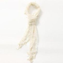 O.SA - Embroidered Tulle Scarf