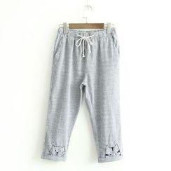 蘭芝 - 條紋七分褲