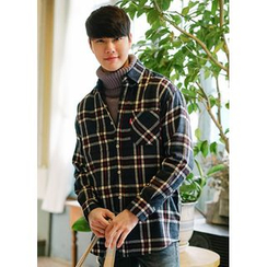 JOGUNSHOP - Pocket-Front Check Shirt