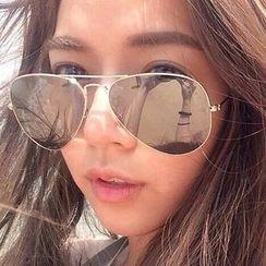 MIME - Mirrored Lens Aviator Sunglasses