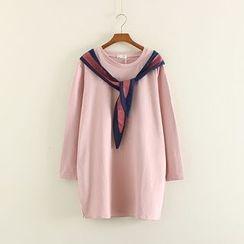 Mushi - Rabbit Print Long-Sleeve T-Shirt