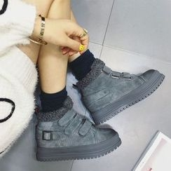 QQ Trend - Fleece Lined Velcro Snow Boots