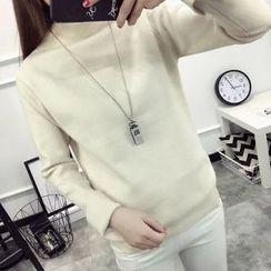 Acoustic Rain - Mock Neck Sweater