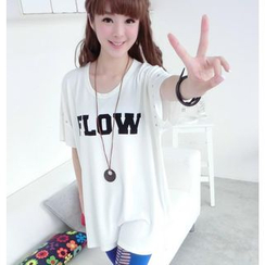 59 Seconds - Studded Lettering Long T-Shirt