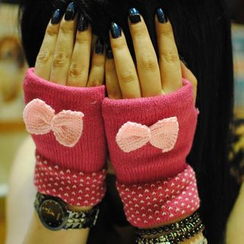 Livesmart - Bow Fingerless Gloves