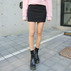 Envy Look - Zip-Side Mini Pencil Skirt