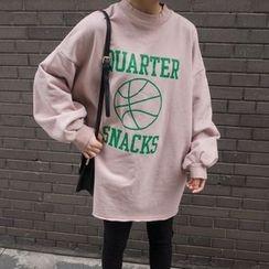 Eva Fashion - Printed Long Sweatshirt