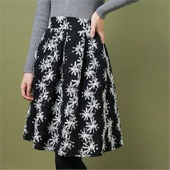 Styleberry - Floral Patterned A-Line Skirt