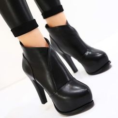 Monde - Chunky Heel Ankle Boots