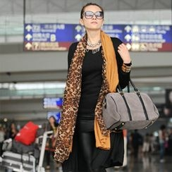 SO Central - Leopard Print Chiffon Panel Scarf