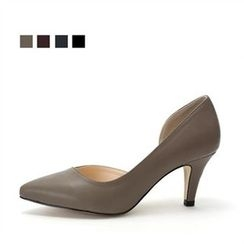 MODELSIS - Pointy-Toe Open-Side Pumps