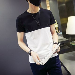 Besto - Two-Tone Short-Sleeve T-Shirt