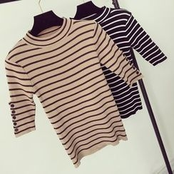 Honeydew - Striped 3/4-Sleeve Knit Top