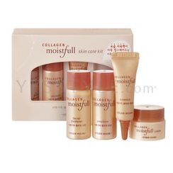 Etude House - Collagen Moistfull Skin Care Kit (4 items): Freshener 15ml + Emulsion 15ml + Cream 5ml + Essence 5ml