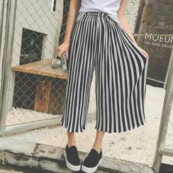 Moon City - Cropped Wide Leg Pants