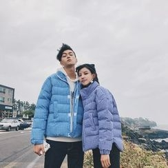 Simpair - Couple Matching Gingham Padded Jacket