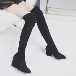Sonne - Over-the-Knee Velvet Boots