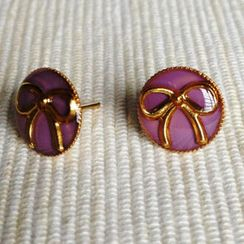 MyLittleThing - Resin Ribbon Earrings (Purple)
