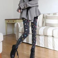 Cheer Mom - Maternity Fleece-Lined Printed Leggings