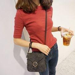 OCTALE - Elbow-Sleeve Plain T-Shirt