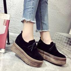 Laceuplux - Lace-Up Platform Shoes
