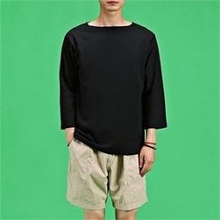 THE COVER - Boat-Neck 3/4-Sleeve T-Shirt