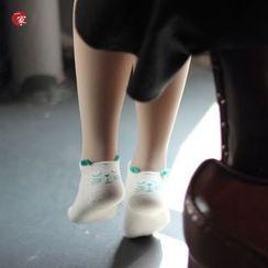 Socka - Ear-Accent Cat-Print Socks