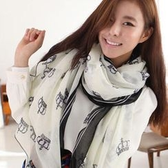 Cuteberry - Crown-Print Scarf