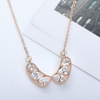 Cuteberry - Rhinestone Collar Necklace