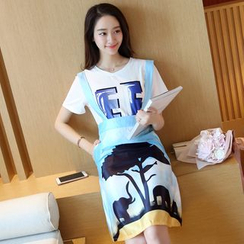 Her Story - Set: T-Shirt + Jumper Skirt