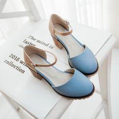 缤纷女鞋 - 玛莉珍高跟鞋