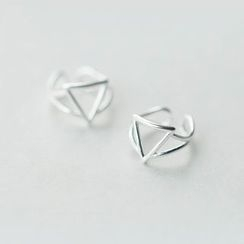 A'ROCH - 925 Sterling Silver Triangle Clip-On Earrings