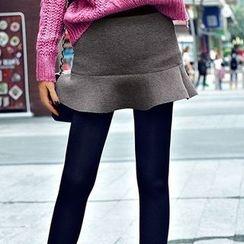 Coolvibe - Inset Skirt Fleece-Lined Leggings
