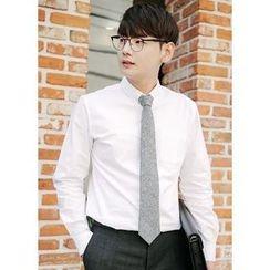 JOGUNSHOP - Pocket-Front Long-Sleeve Shirt