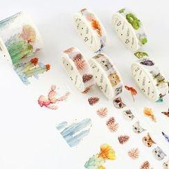 雲木良品 - 印花美紋紙膠帶