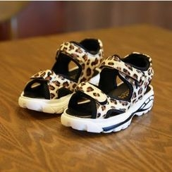 BOOM Kids - 小童豹紋涼鞋