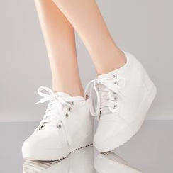 YIYA - Hidden Wedge Platform Sneakers