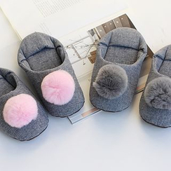 iswas - Pompom Slippers - (S)