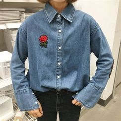 Bloombloom - Embroidered Denim Shirt