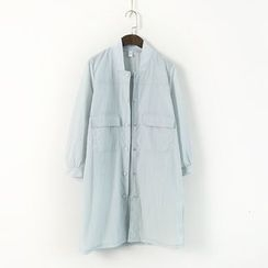 Ranche - Plain Stand-collar Jacket
